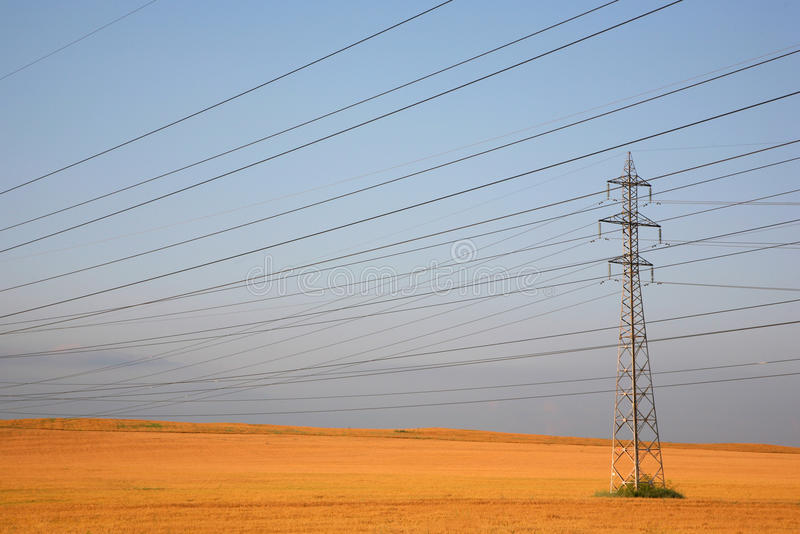 Elektrizitätsgondelstiel lizenzfreies stockbild