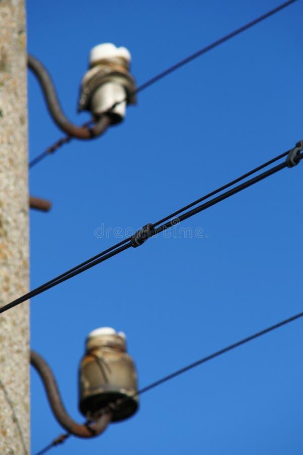 Elektrizitätsgondelstieldetail lizenzfreie stockfotos