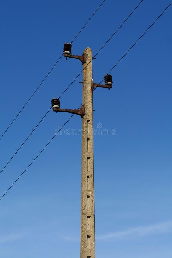 Elektrizitätsgondelstieldetail stockfotos