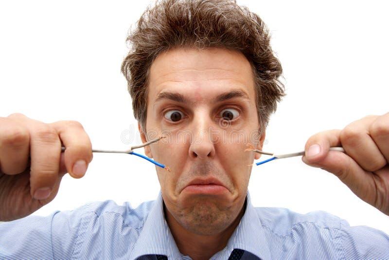 Elektrizitätsproblem lizenzfreie stockbilder
