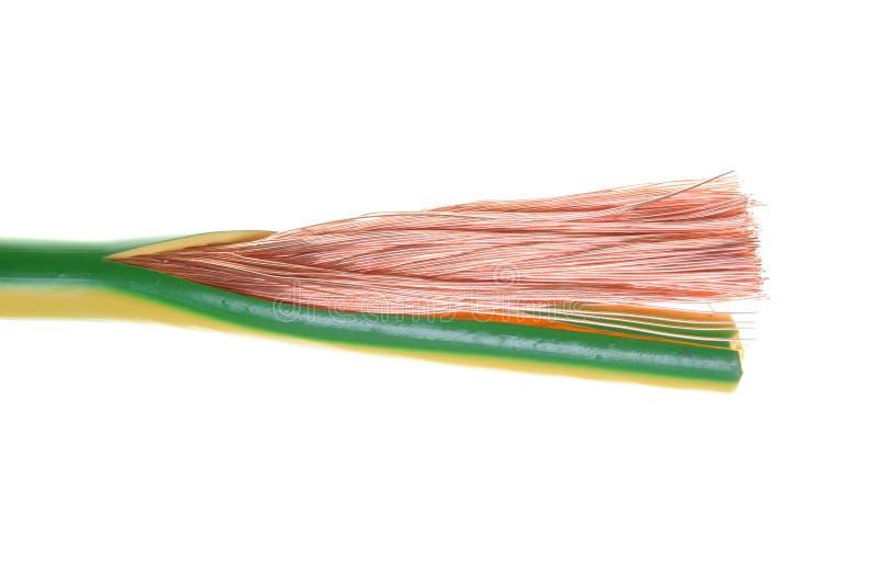 Elektro aan de grond zettende kabel royalty-vrije stock afbeeldingen