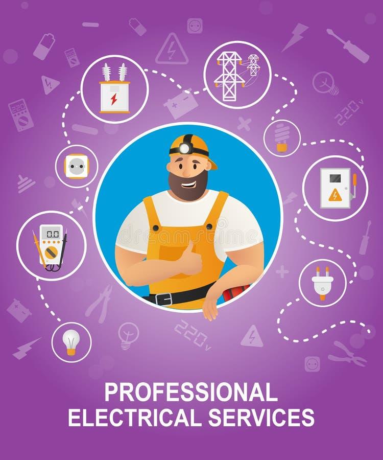 Elektro apparatuur E stock illustratie