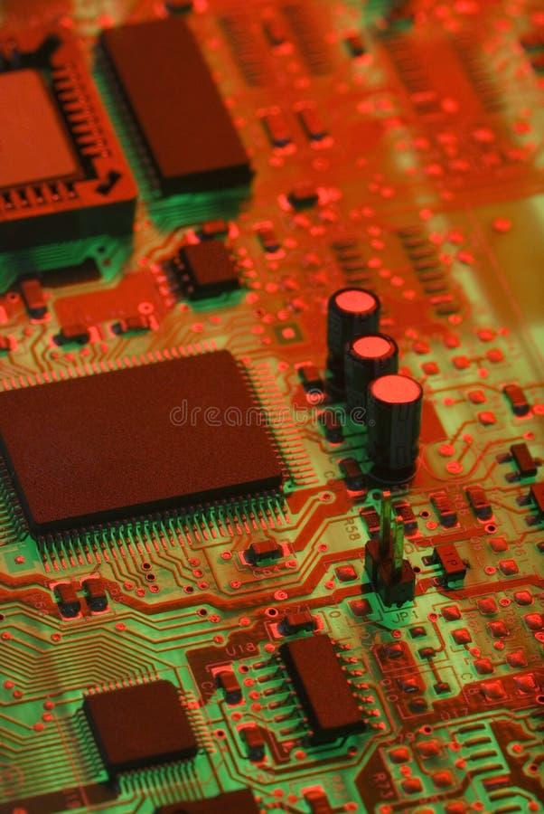 Elektro componenten stock afbeeldingen