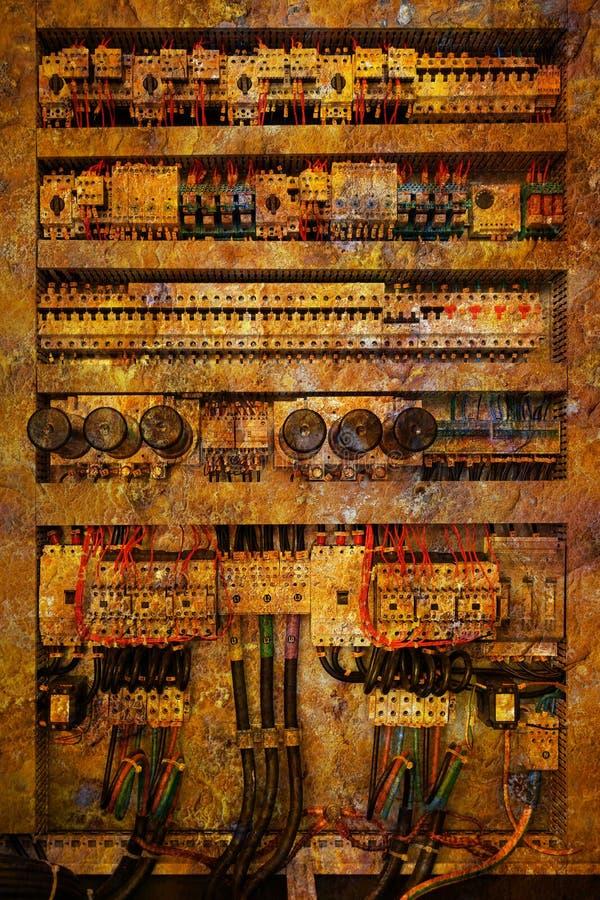Elektro controlebord royalty-vrije stock afbeelding