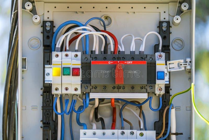Elektro controlebord royalty-vrije stock foto