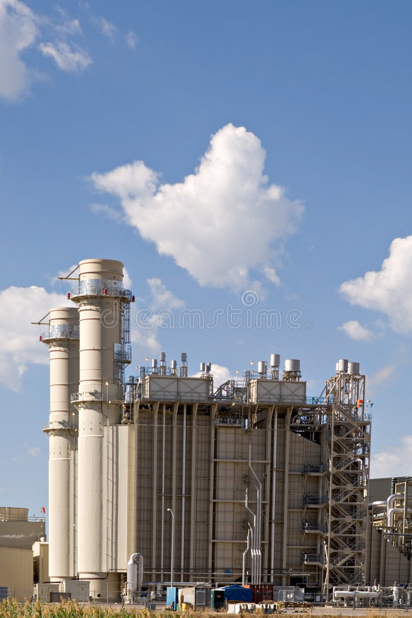 Elektro elektrische centrale royalty-vrije stock afbeeldingen