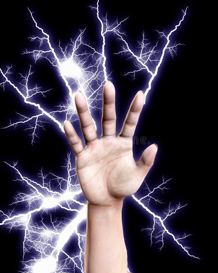 Elektro Hand royalty-vrije illustratie