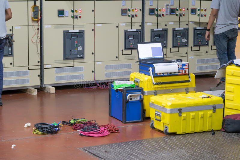 Elektro het Testen Materiaal stock foto