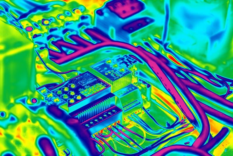 Elektro inrared thermografie royalty-vrije illustratie