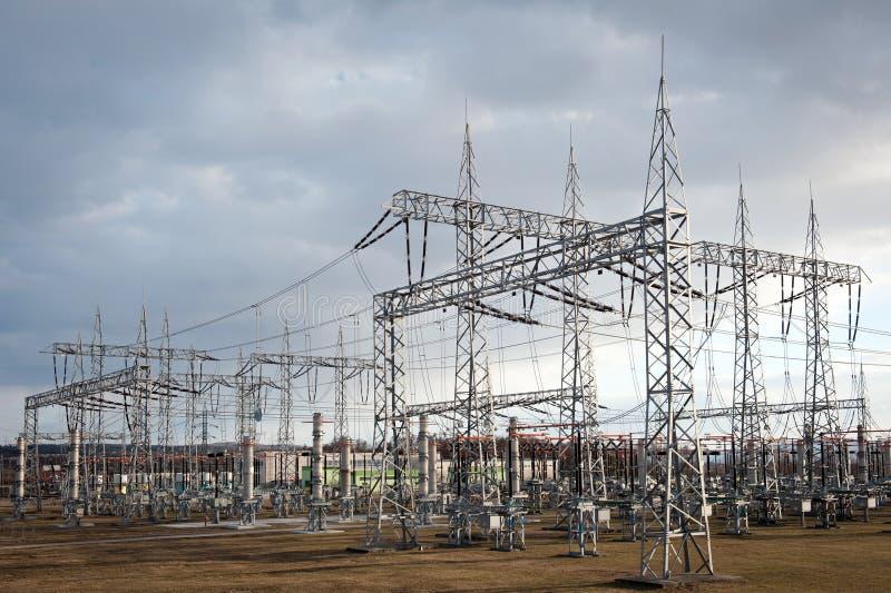 Elektro krachtcentrale royalty-vrije stock afbeeldingen