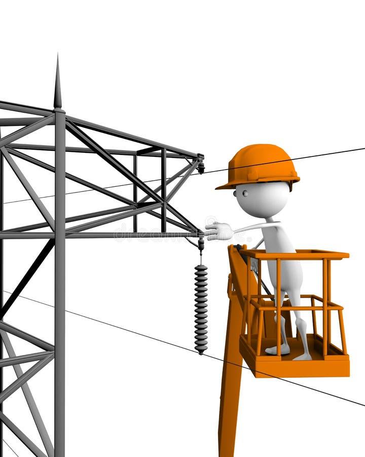 Elektro lijnwachters vector illustratie