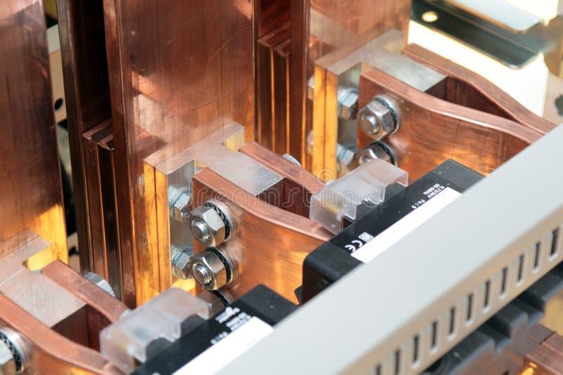Elektro machtsschakelbord stock afbeelding