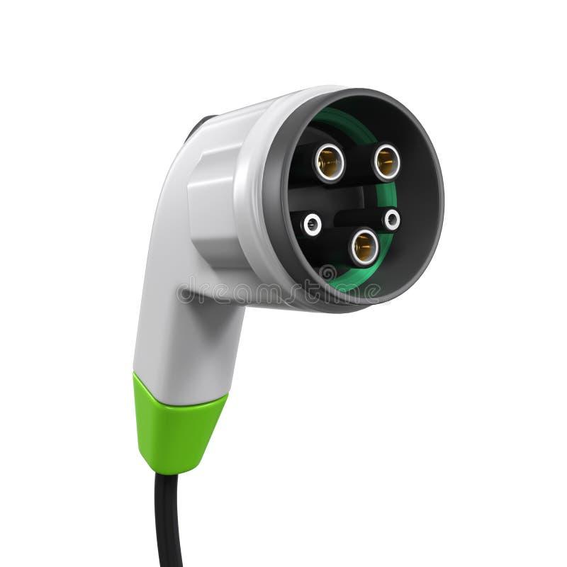 Elektro-Mobil-Aufladungsstecker lizenzfreies stockfoto