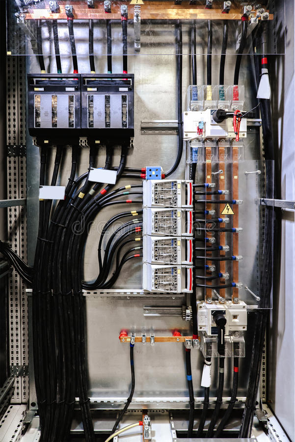 Elektro paneel stock foto's