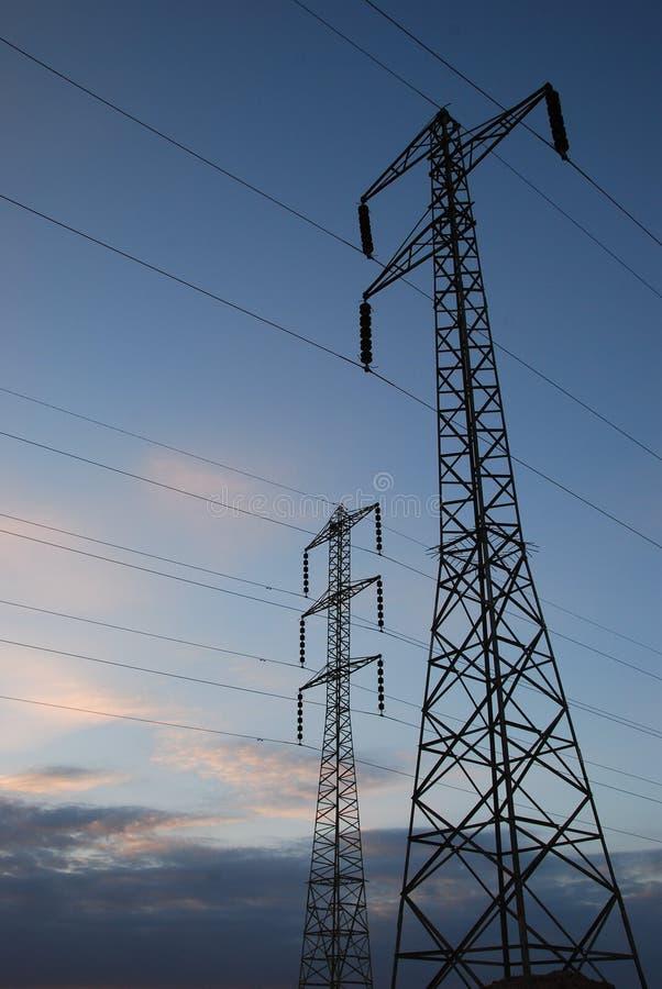 Elektro pylonen royalty-vrije stock foto