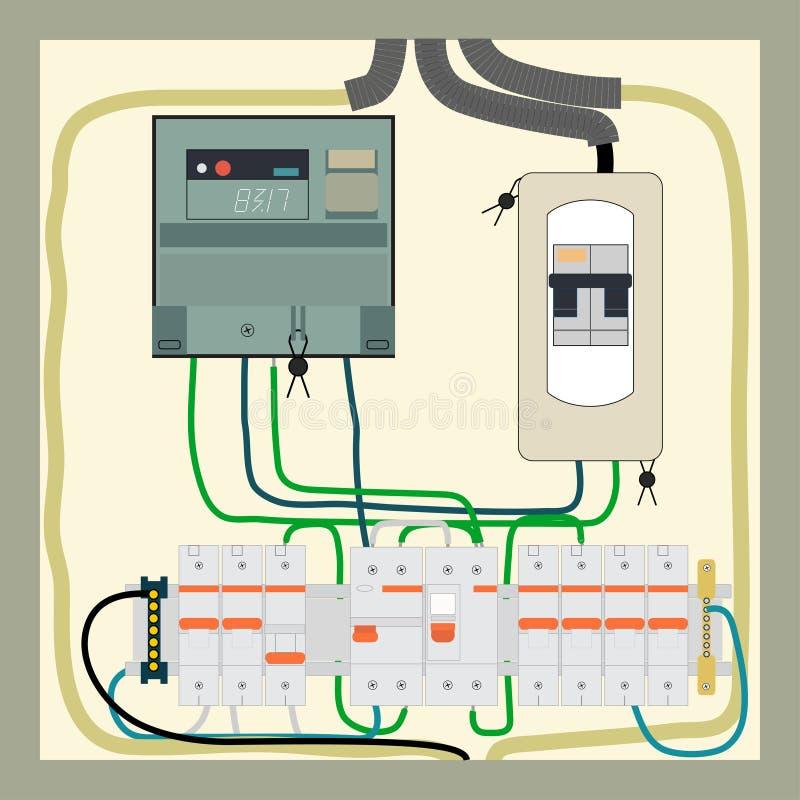 Elektro schild vector illustratie