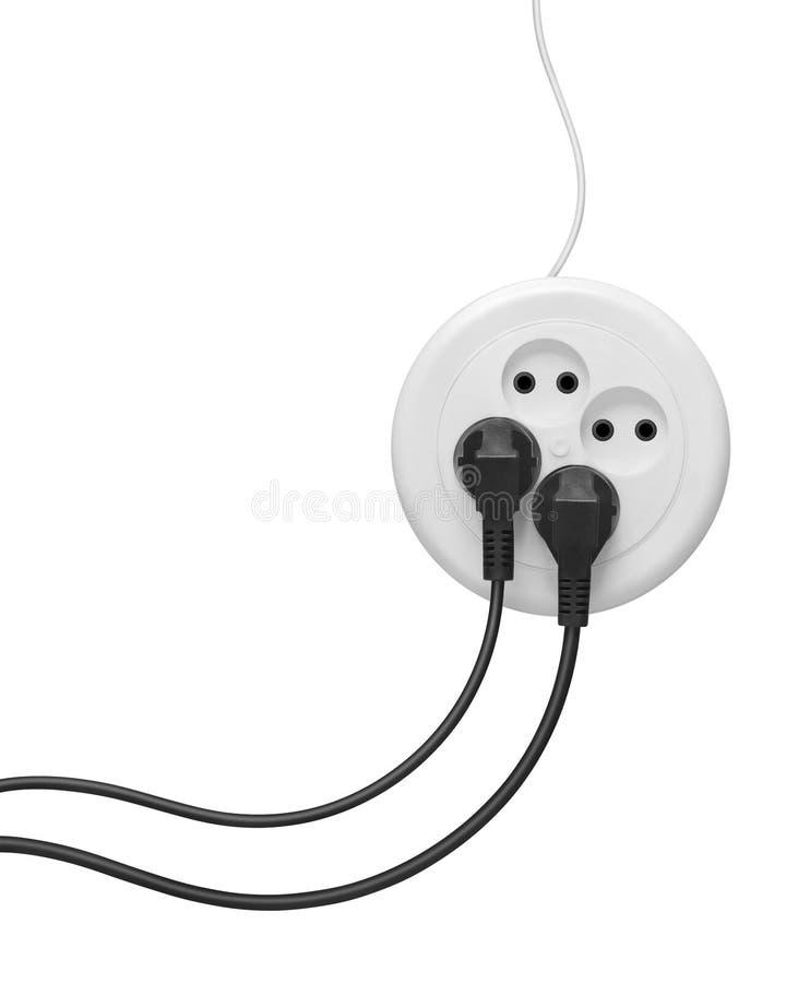 Elektro stoppen en afzetuitbreiding stock fotografie