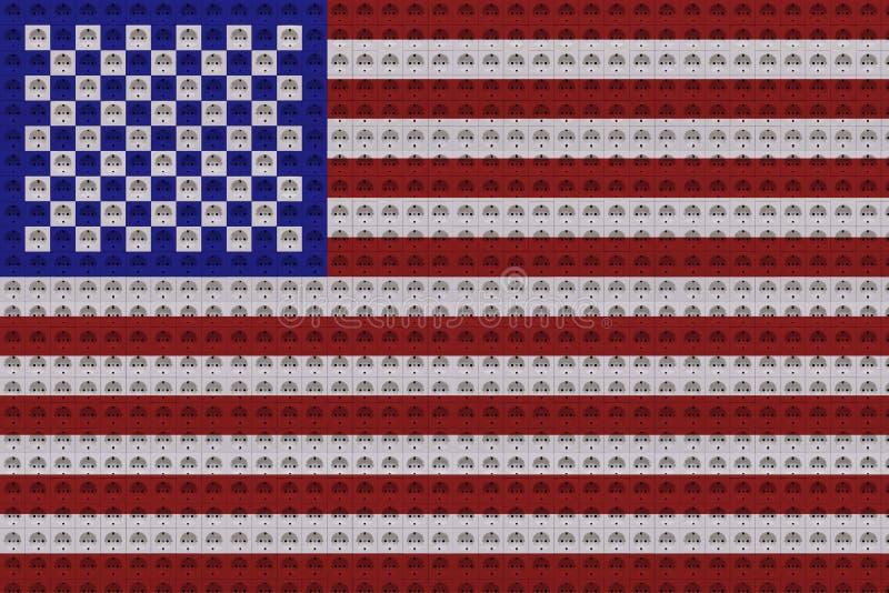 Elektroafzet in de kleuren van de vlag van de V.S. royalty-vrije stock foto