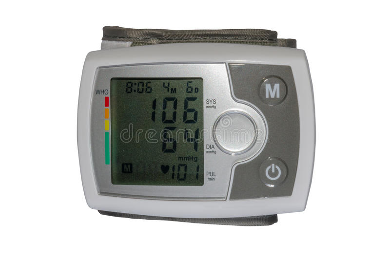 Elektroapparaat om bloeddruk te meten royalty-vrije stock afbeelding