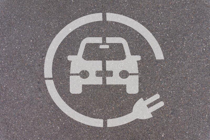 Elektroauto-parkende Station lizenzfreie stockfotos