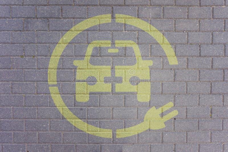 Elektroauto-parkende Station lizenzfreies stockfoto