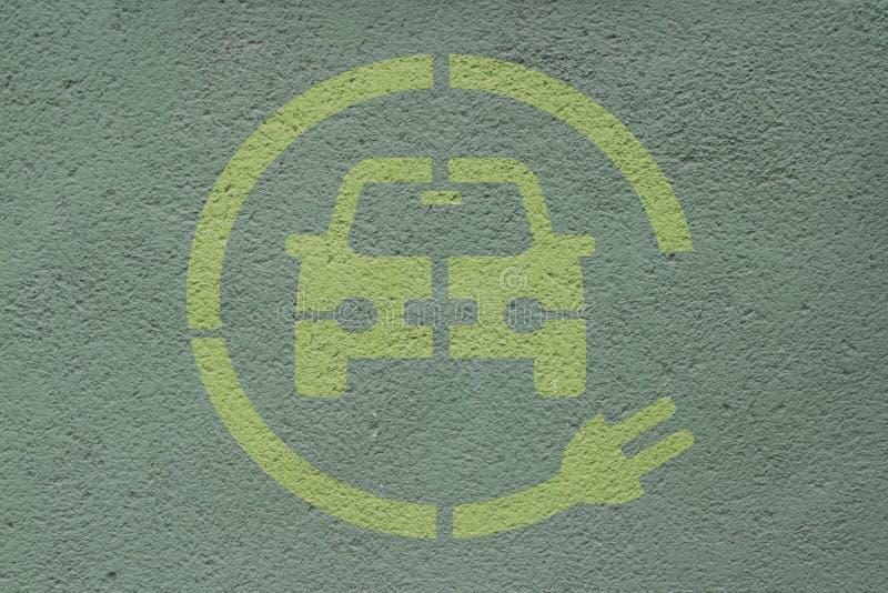 Elektroauto-parkende Station stockfotos