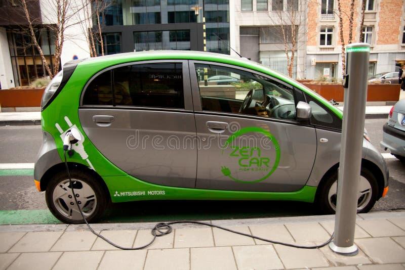 Elektroautoaufladung stockfotos