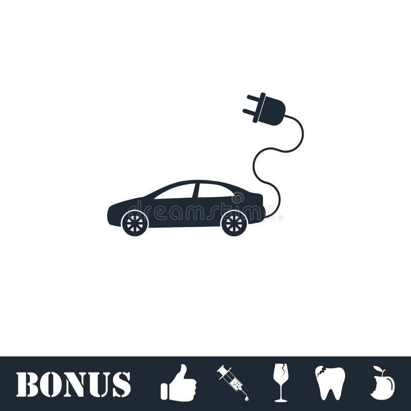 Elektroautoikone flach lizenzfreie abbildung
