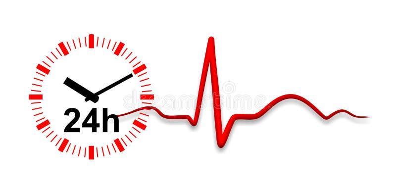 Elektrocardiogram stock illustratie