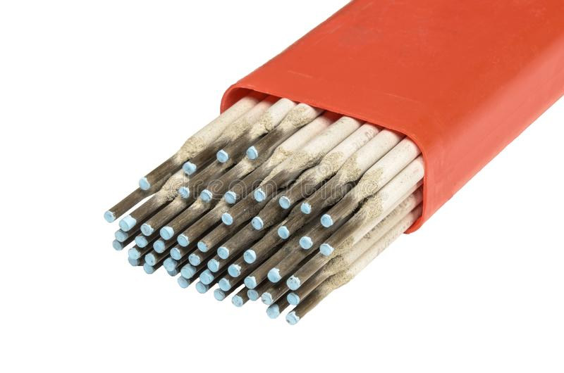 Elektrod för rostfritt stål med en diameter av två millimetrar royaltyfri bild