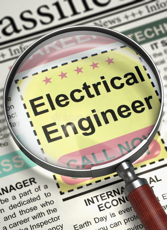 Elektroingenieur Wanted 3d lizenzfreie stockfotos