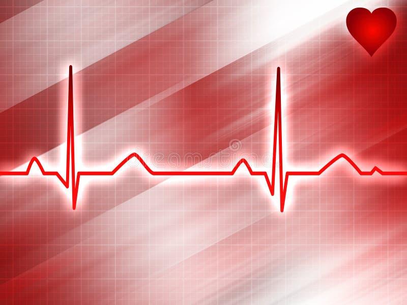 elektrokardiograma toru ilustracja wektor