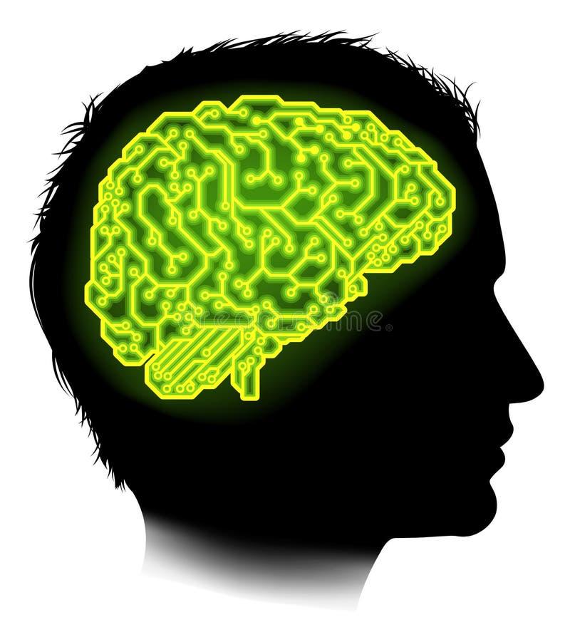 Elektrokring Brain Man Concept royalty-vrije illustratie