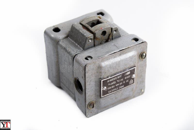 Elektromagnes, produkcja USSR zdjęcie stock