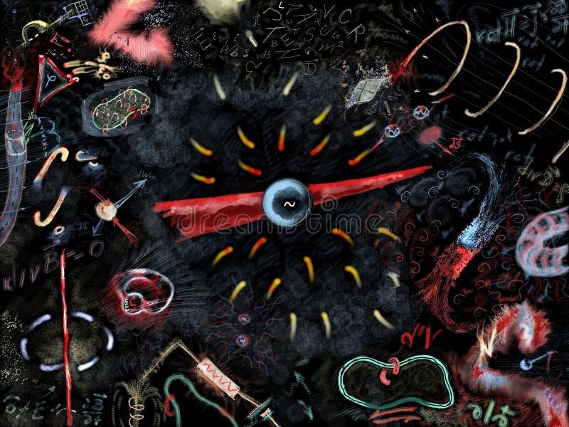 Elektromagnetisme royalty-vrije illustratie