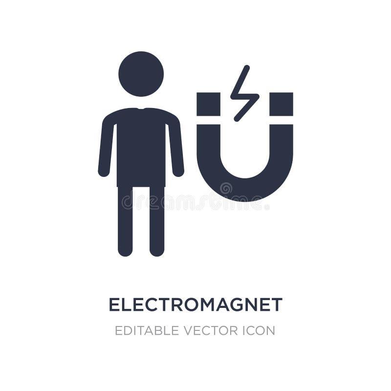 elektromagnetsymbol på vit bakgrund Enkel beståndsdelillustration från folkbegrepp royaltyfri illustrationer