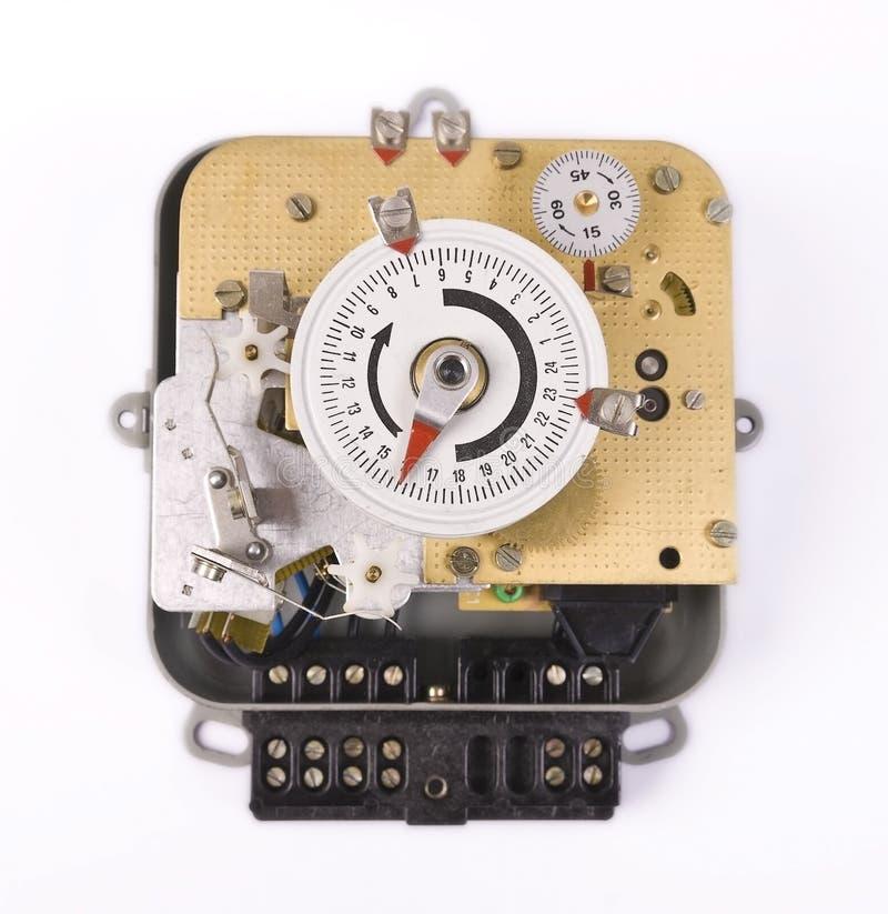 Elektromechanische Timer-Einheit stockfoto