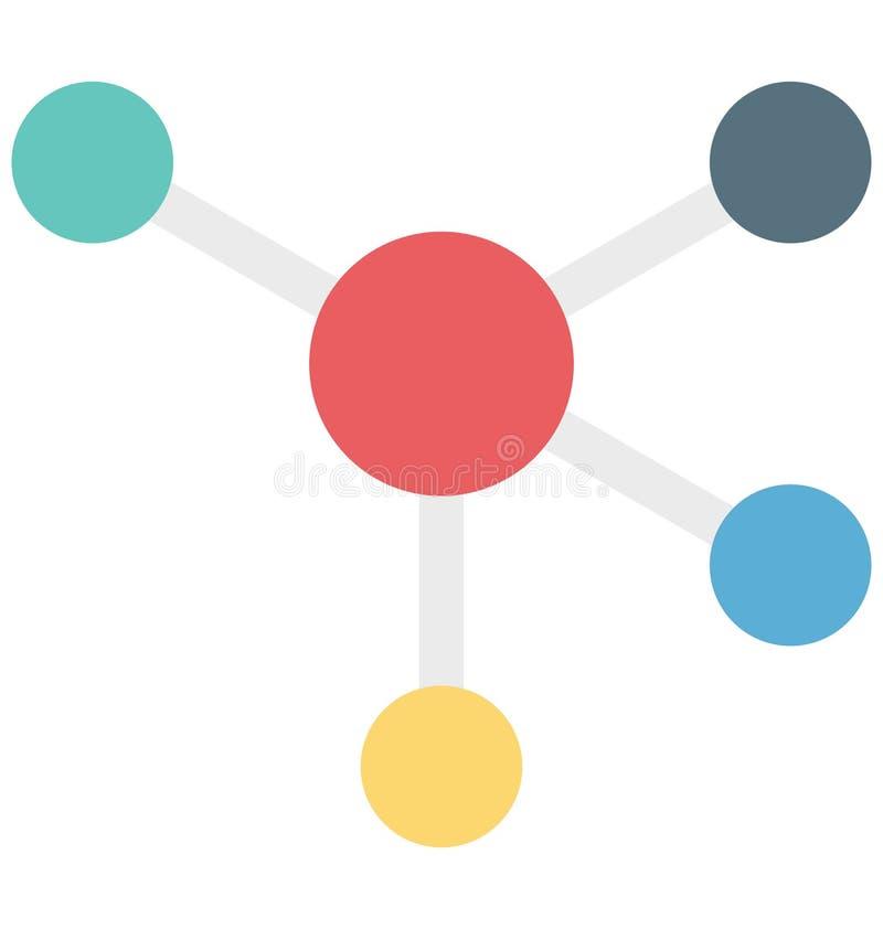 Elektron, Atom, lokalisierte Vektorikone, die leicht geändert werden oder redigieren kann stock abbildung