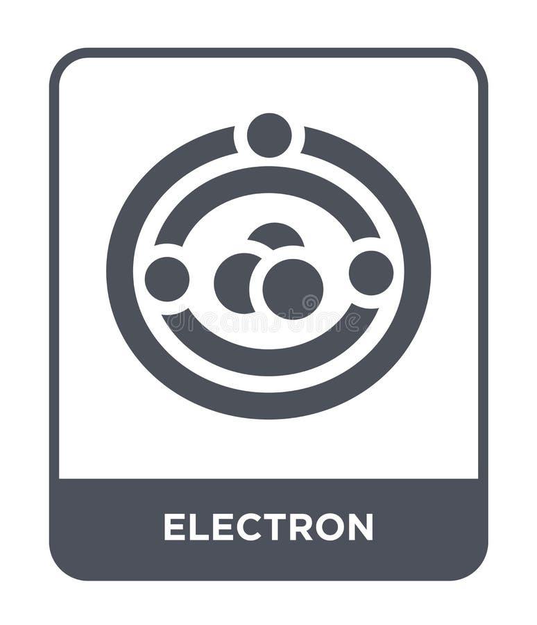 elektron ikona w modnym projekta stylu elektron ikona odizolowywająca na białym tle elektron wektorowej ikony prosty i nowożytny  ilustracja wektor