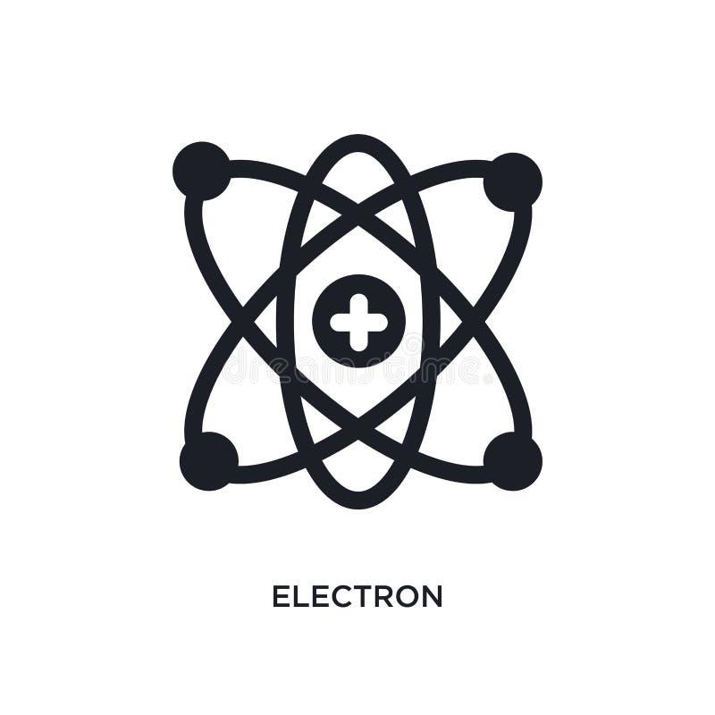 elektron odosobniona ikona prosta element ilustracja od nauki pojęcia ikon elektronu logo znaka symbolu editable projekt na bielu royalty ilustracja