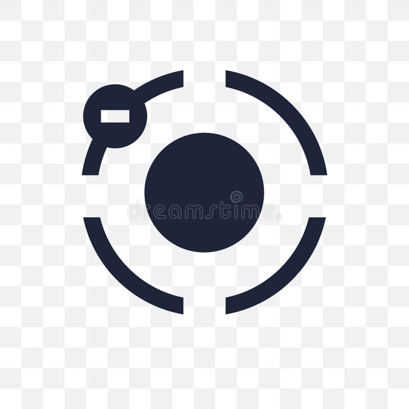 Elektron przejrzysta ikona Elektronu symbolu projekt od nauki c ilustracja wektor