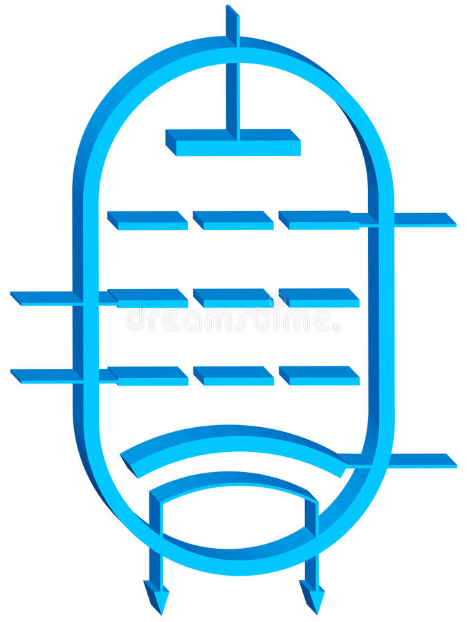 Elektron tubka royalty ilustracja