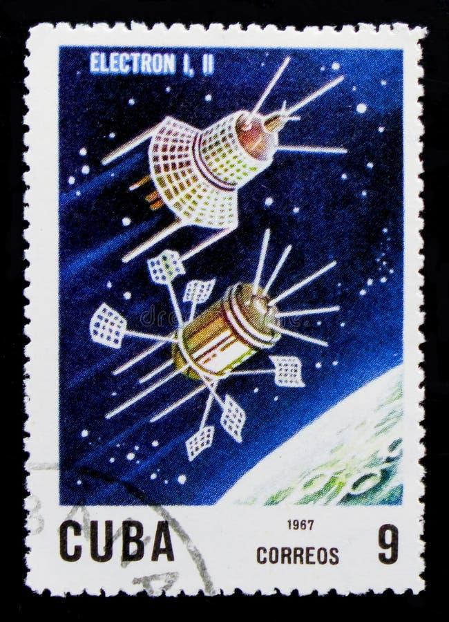 Elektron 1 und 2, 10. Ann Von der Produkteinführung des ersten künstlicher Satelitte serie, circa 1967 lizenzfreie stockbilder