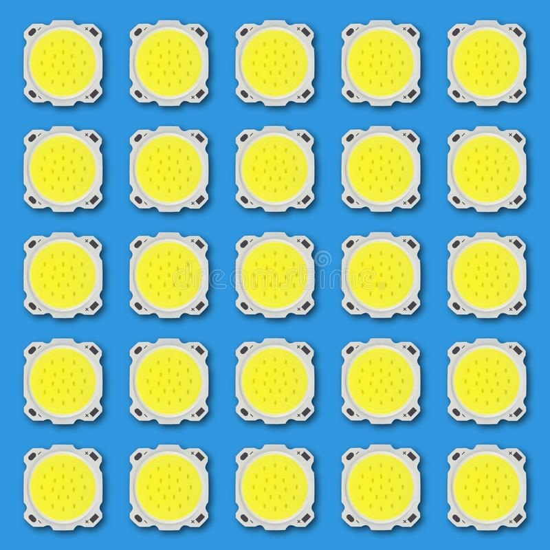 Download Elektronet - LEIDENE Lichtgevende Dioden Van Grote Macht Isolat Stock Illustratie - Illustratie bestaande uit eigentijds, kleur: 107702794