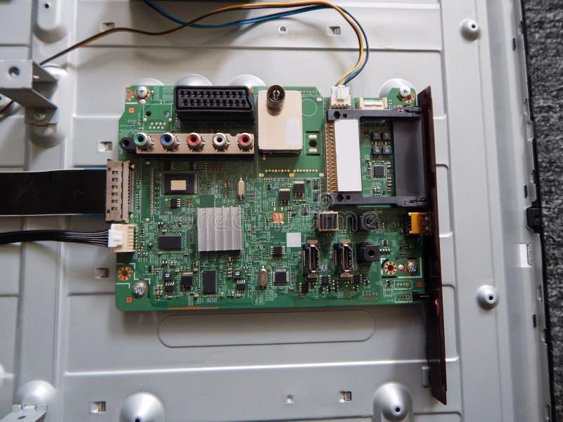 Elektroniczna deska TV zdjęcia stock