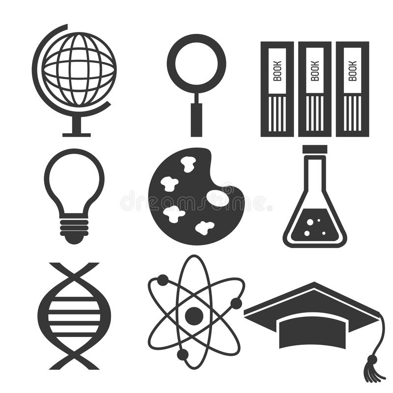Elektroniczna edukacja lub nauczanie online ilustracja wektor