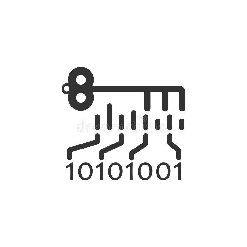 Elektroniczna Kluczowa ikona Element internet ochrony ikona dla mobilnych pojęcia i sieci apps Szczegółowa Elektroniczna kluczowa ilustracji