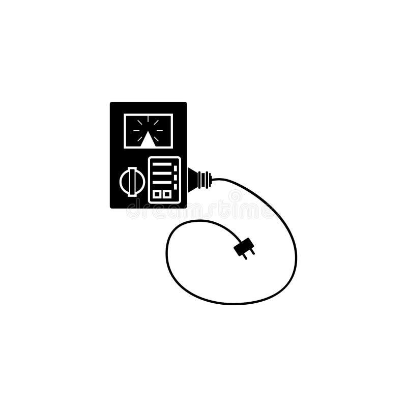 elektroniczna remontowa kalibracyjna utrzymanie komputeru ikona Element remontowa ikona dla mobilnych pojęcia i sieci apps szczeg ilustracji