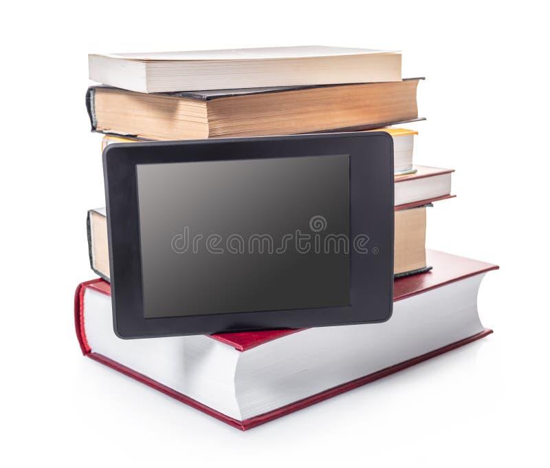 Elektroniczne i papierowe ksi??ki obraz stock