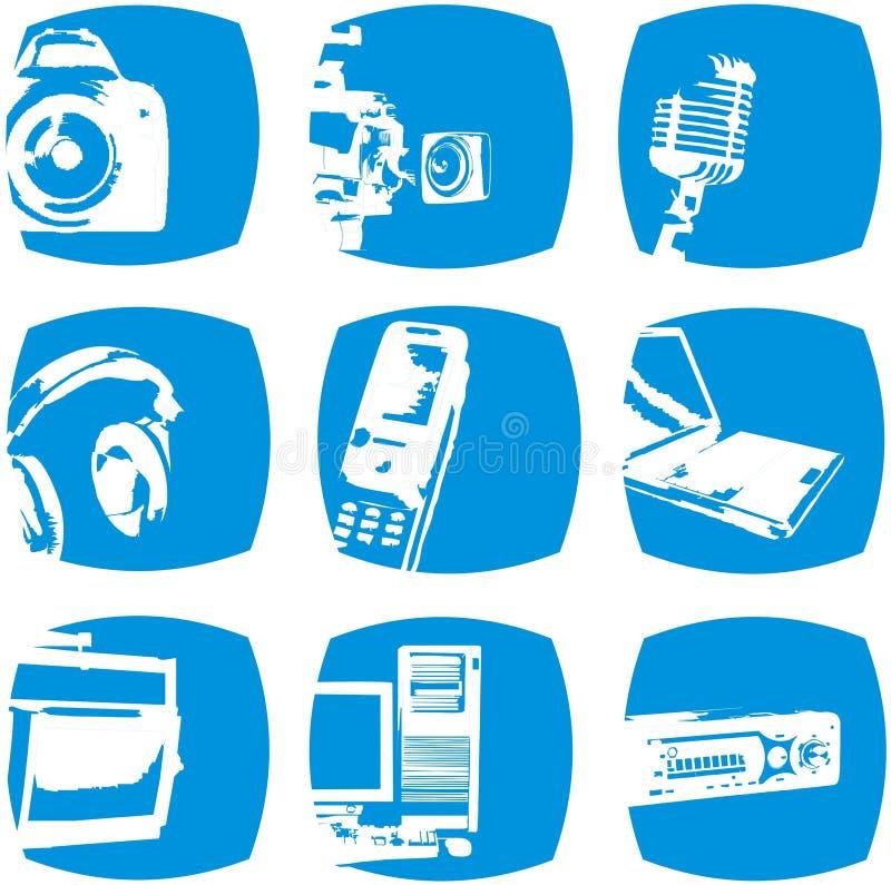 Elektroniczne Ikony Zdjęcia Royalty Free